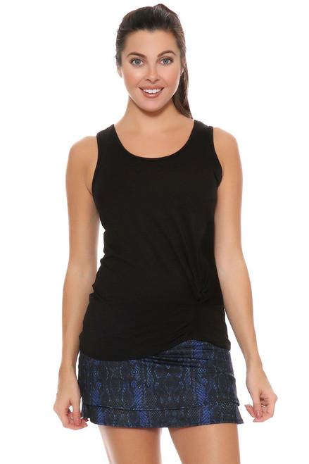 Lucky In Love Women's Birque Birque Python Short Black Tennis Skirt