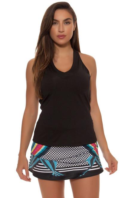 Lucky In Love Women's Print Medley Lady Scallop Tennis Skirt