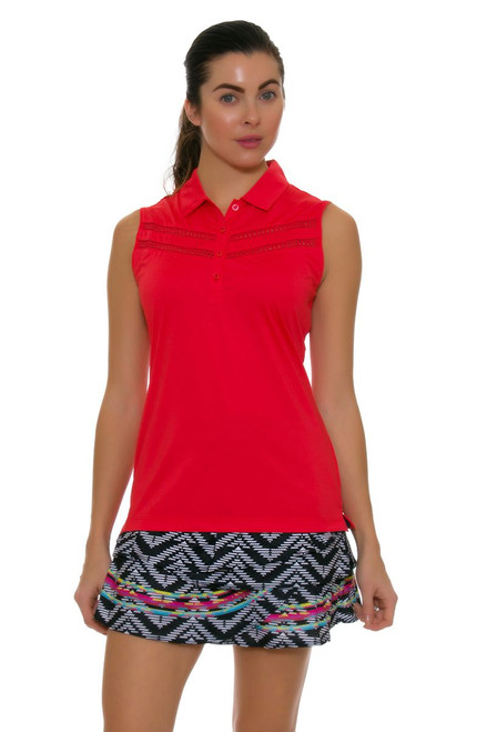 Lucky In Love Women's Print Medley Long Night Life Rouched Scallop Golf Skort