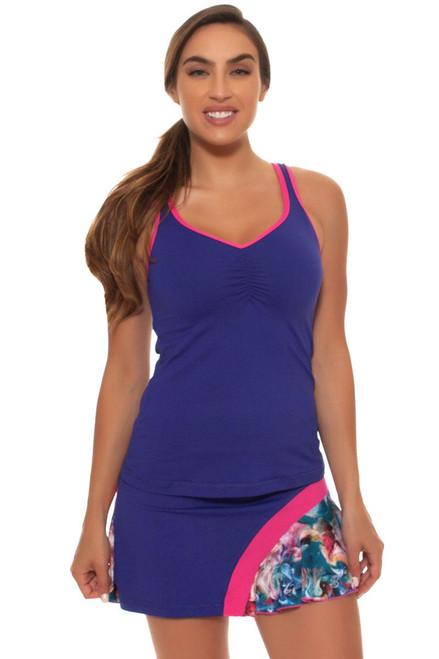"Sofibella Women's Fiji Spiral Flounce 15"" Tennis Skirt SFB-1546 Image 4"