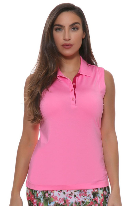 EP Sitting Pretty Picot Trim Sleeveless Golf Shirt