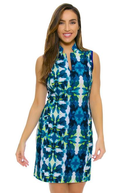 EP Ipanema Kaleidoscope Feather Print Golf Dress