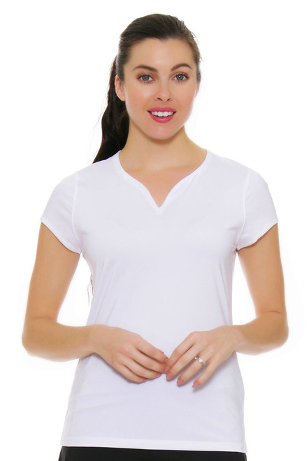 Cap Sleeve White Tennis Shirt FT-TW171WM4-100 Image 4