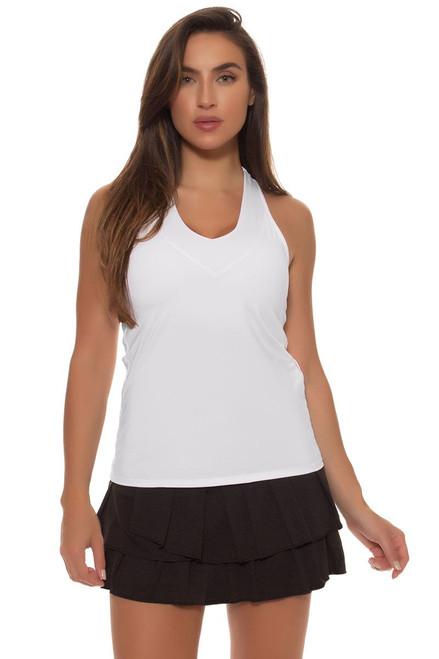 Pleat Tier Core Black Tennis Skirt