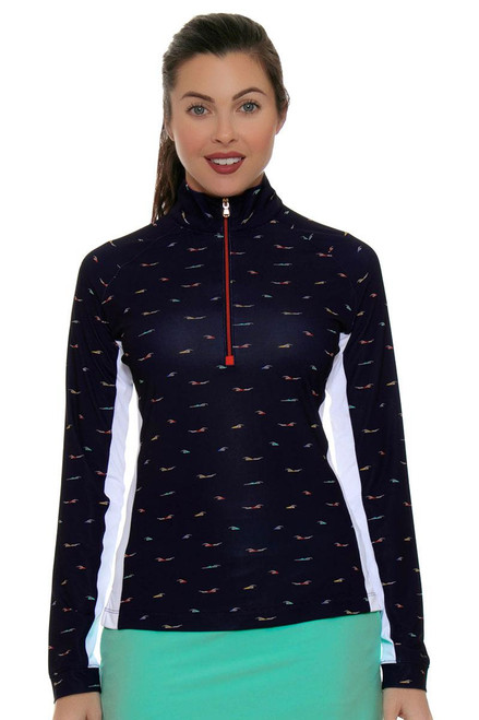 Fairway and Green Shore Line Kinsley Zip Mock Long Sleeve