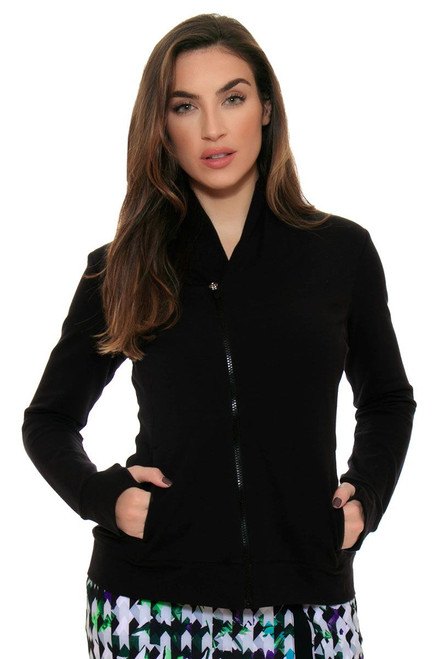 EP Sport Women's Prismatic  French Terry Asymmetric  Collar Jacket