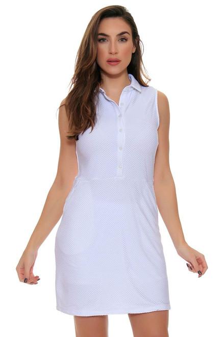 White Cool Mesh Golf Dress