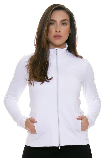 Sofibella Women's Basic White UV Protect Fitted Jacket SFB-6006