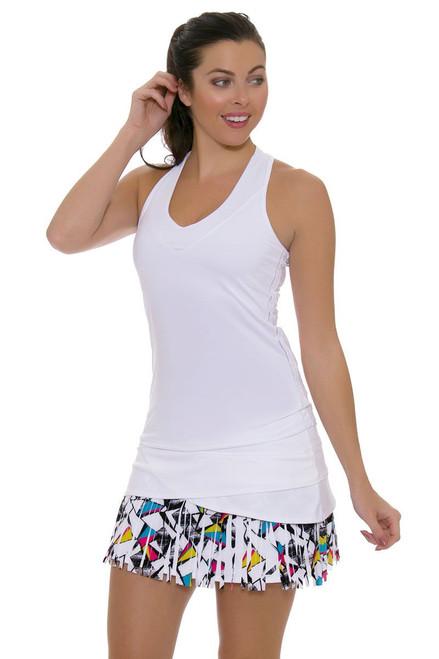 Long Shape Up Fringe Scallop Tennis Skirt