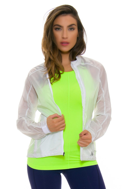 Tennis Clothes l New Balance Lime Glo Jacket : WJ63400