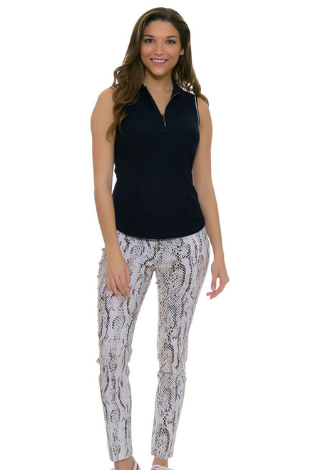 Greg Norman Skin's Game Printed Python Golf Ankle Pants