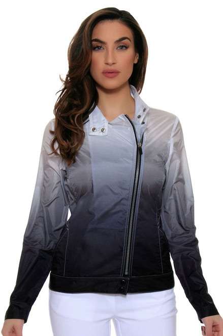 EP Pro Women's Power Play Ombre Dip Dye Asymmetric Moto Jacket