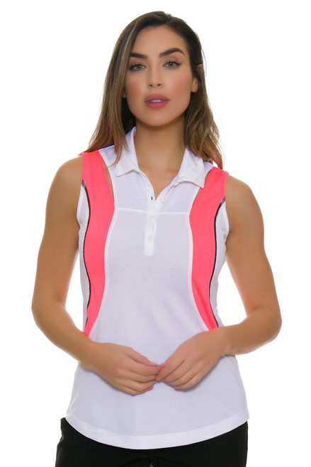 EP Sport Women's Mahalo Waikiki Color Blocked Golf Sleeveless Shirt