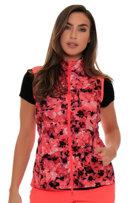 EP Sport Women's Mahalo Wailea Bouquet Floral Golf Vest