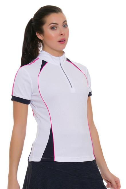 GGBlue Women's Venezuela Junie White Golf Polo Shirt
