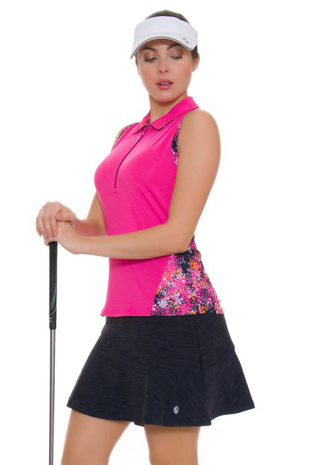 GGBlue Women's Venezuela Flounce Navy Pull On Golf Skort