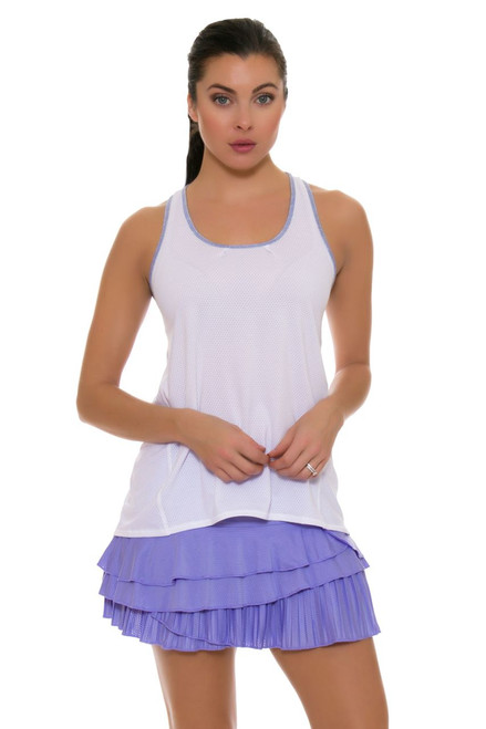 Lucky In Love Women's Snake Charmer Rally Pleat Tier Lilac Tennis Skirt