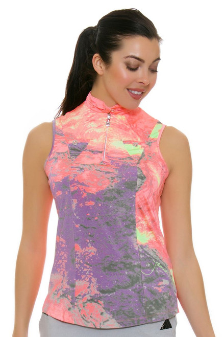 Jamie Sadock Women's Tutti Fruitti Lava Print Golf Sleeveless