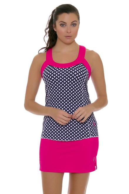 Jofit Women's Napa Sport Hot Pink Jacquard Mina Tennis Skirt JF-TB036-FLP Image 4