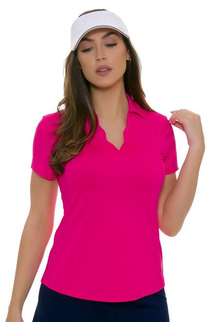 Jofit Women's Napa Sport Scallop Golf Short Sleeve Polo