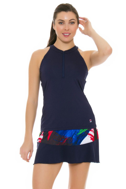 Fila Women's Heritage Riviera Print Tennis Skirt FT-TW171TW7-447 Image 4