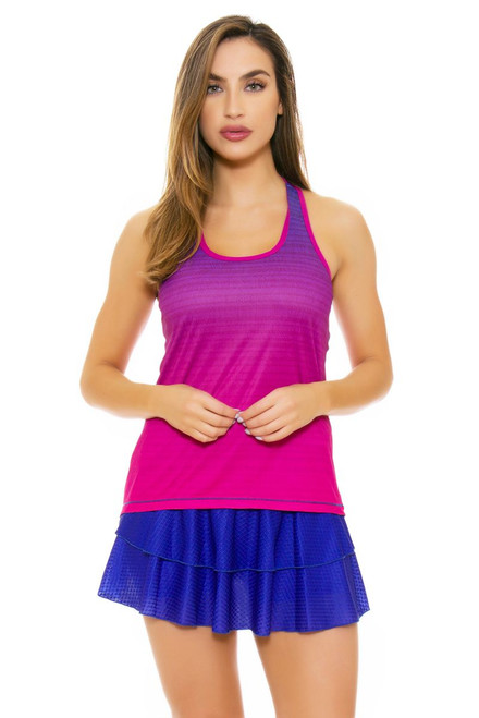 Solfire Women's Artisan Peak Persian Blue Tennis Skirt
