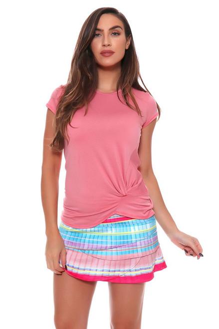 Lucky In Love Women's Print Medley Pleats Please Tennis Skirt