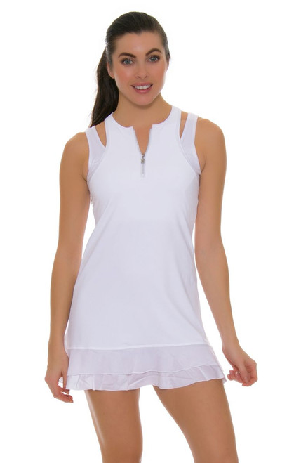 Sofibella Women's Victory Tank White Tennis Dress SFB-1674 Image 1