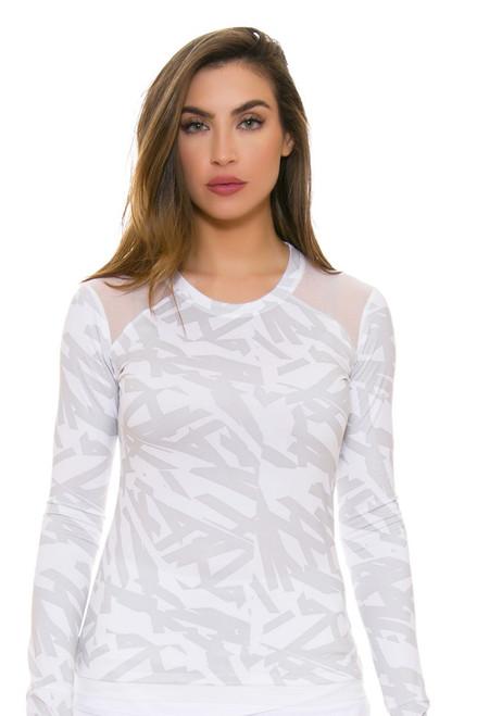 Oiselle Women's Muscle Frost Nest Long Sleeve OI-204216-Tennis Image 4