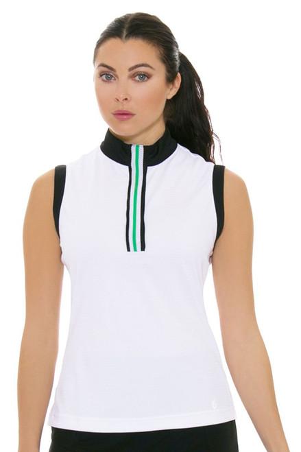 GGBlue Women's Bali Thea White Golf Sleeveless Shirt
