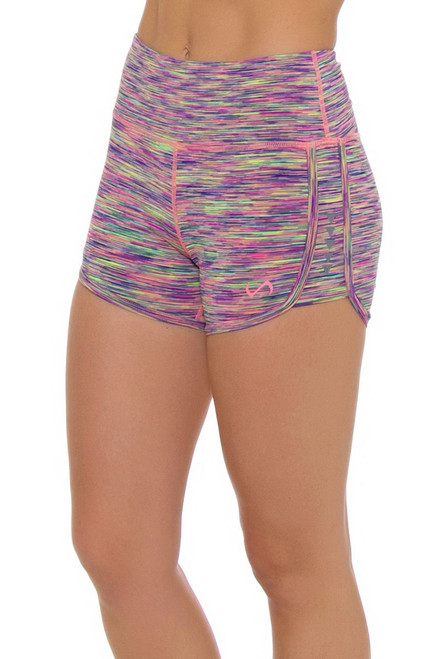 TLF Women's Spring Romp Cake Space Dye Workout Short