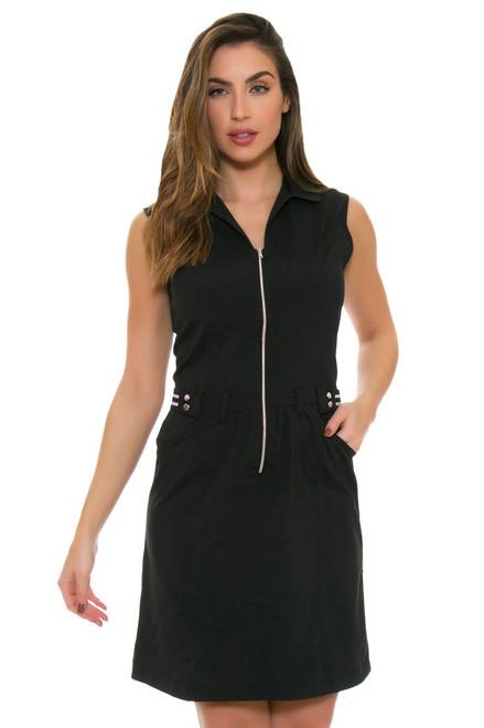 Cracked Wheat Black Golf Dress