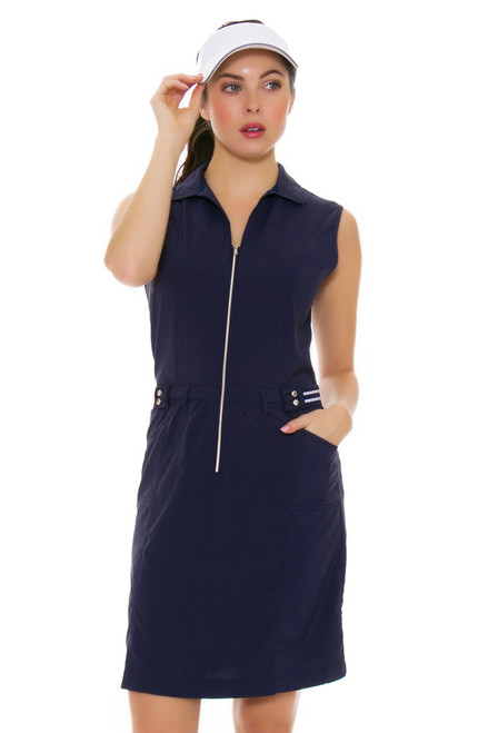 Womens Navy Blue Golf Dress by Cracked Wheat