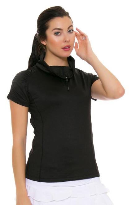 Bargray Women's Pebble Black Short Sleeve Shirt | Golf or Tennis Wear