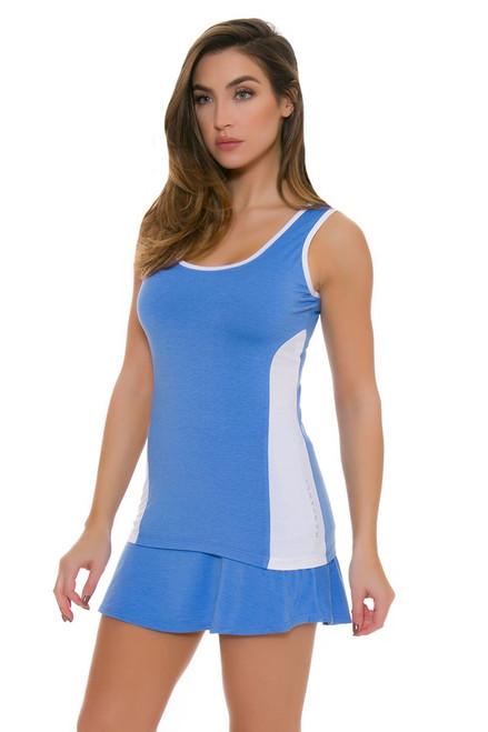 Redvanly Women's Gates Blue Tennis Skirt