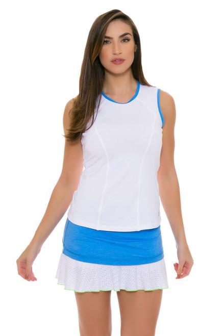"Sofibella Women's Triumph Layered Flounce 14"" Sky Blue Tennis Skirt SFB-1679-Sky Blue Image 4"