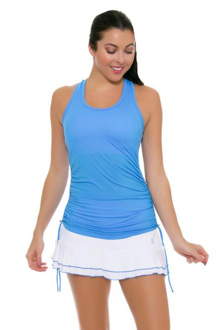 "Sofibella Women's Triumph White Flounce 12"" Tennis Skirt"