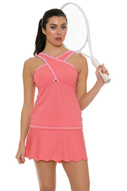 BPassionit Women's Spring Fling Blossom Scallop Hem Tennis Skirt BP-503713 Image 1