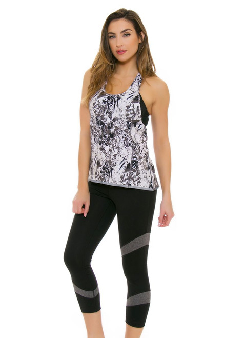 Lole Women's Spring Gratitude Cropped Black Workout Leggings LO-LSW2355-N101 Image 4