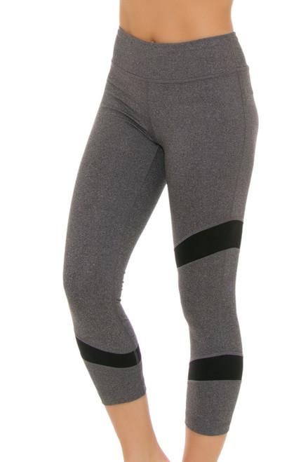 Lole Women's Spring Gratitude Cropped Black Heather Workout Leggings LO-LSW2355-N134 Image 4