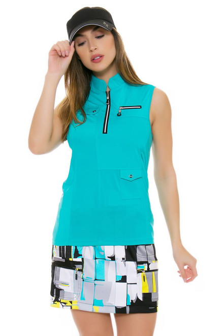 Jamie Sadock Women's Antigua Dig-Box Jet Golf Skort