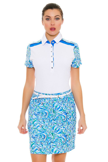 GGBlue Women's Turks & Caicos Dunes Waves Golf Skort
