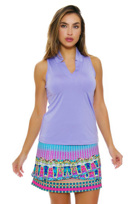 Lucky In Love Women's Divine Disco Gypsy Scallop Pull On Golf Skort