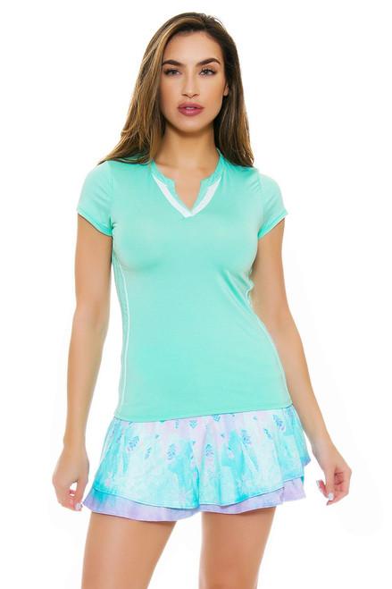 Lucky In Love Women's Desert Shore Long Flip Lagoon Tennis Skirt
