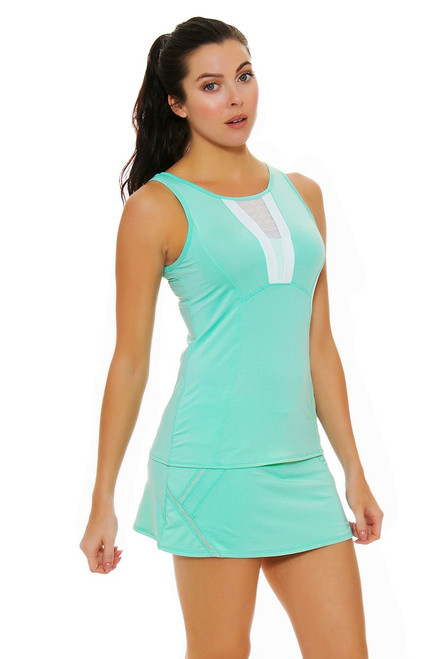 Lucky In Love Women's Desert Shore Zip Line Lagoon Tennis Skirt