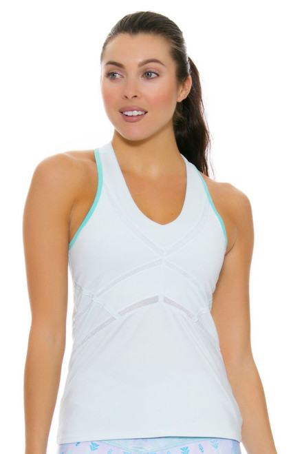 Lucky In Love Women's Desert Shore Linear V-Neck Shore Tennis Tank