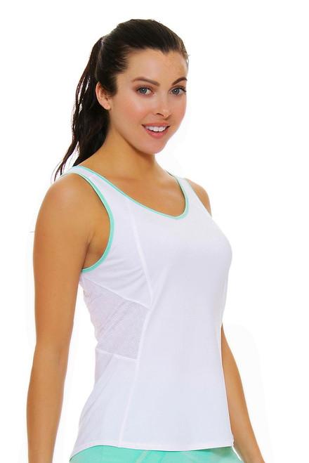 Lucky In Love Women's Desert Shore Jane Sweet White Tennis Tank
