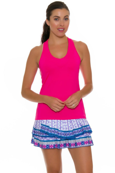 Lucky In Love Women's Divine Print Pleat Tier Tennis Skirt
