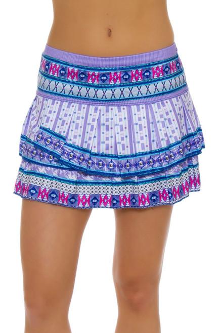 ... Lucky In Love Women's Divine Print Pleat Tier Tennis Skirt ...