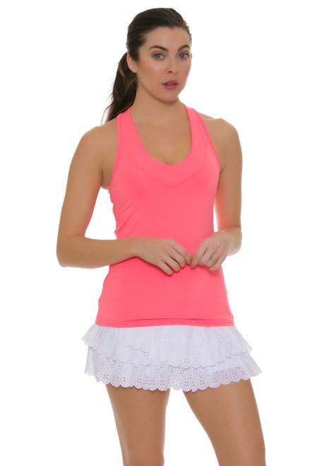 Lucky In Love Women's Laser Cut Core White Tennis Skirt LIL-CB188-195110 Image 1